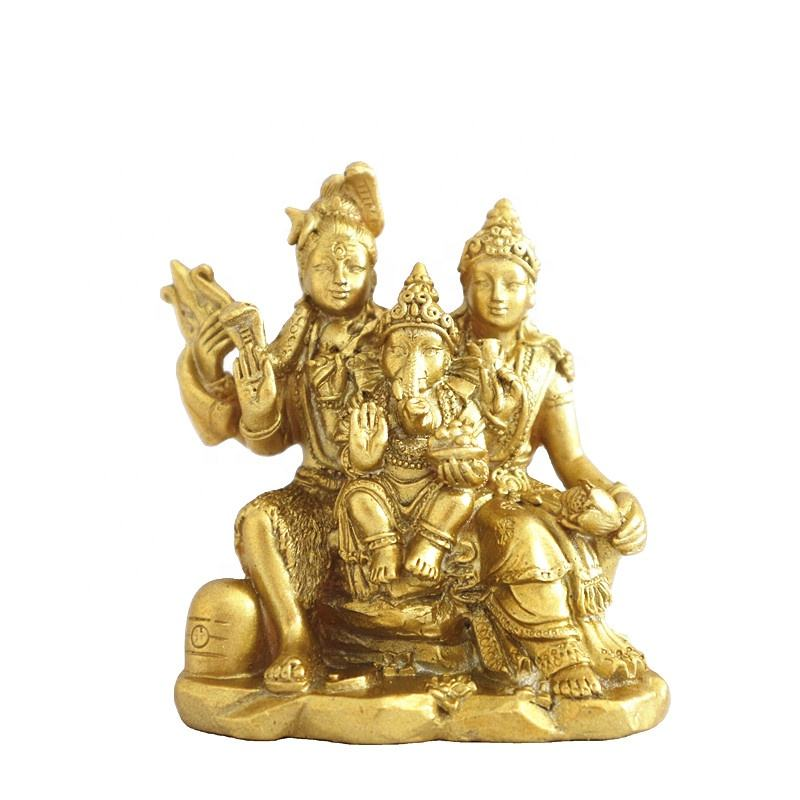Showpiece Gift Figurine Resin Lord Shiva Statue for Home Shiva Family Figure Home Religious Idol Decorative