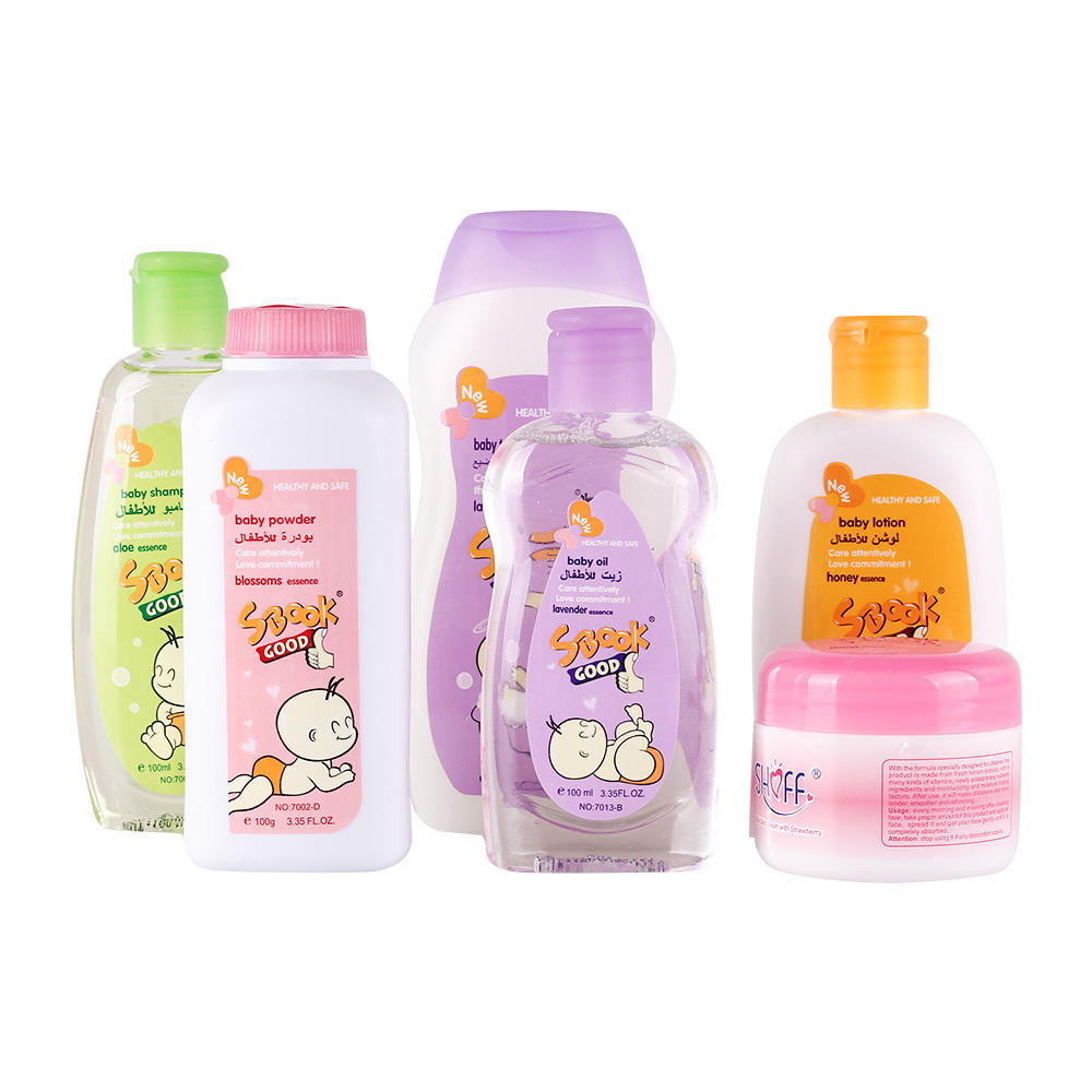 SBOOK 6 Items Comb Baby Bath Gift Set Baby LotionとWash Products Set Daily Bath Gel Gift SetためBaby