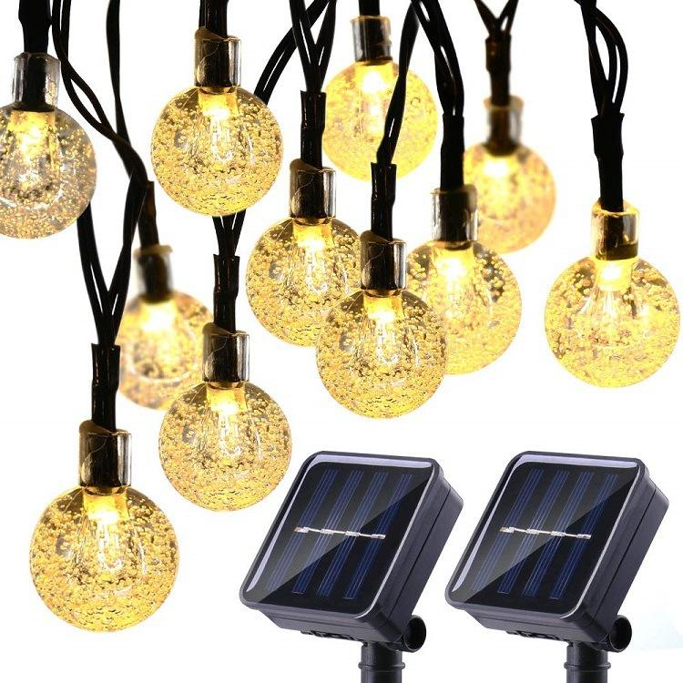 Outdoor fairy lights for garden solar powered 30 led crystal ball decorative string lights