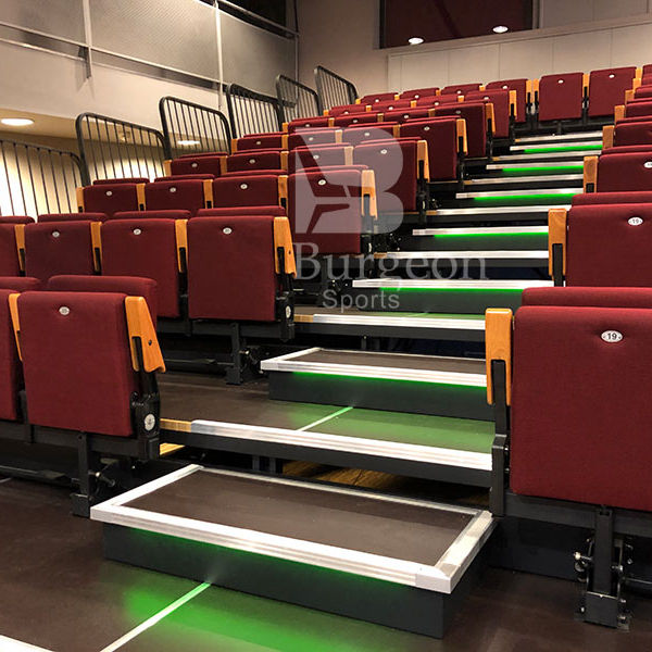 Arena Stage Seating With Fabric Chair With Backrest Armrest Automatic Tip-up Seat For Stadiums Theater Stage