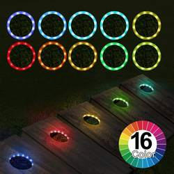 16 Color RGB LED Cornhole Lights for Cornhole Game, Bean Bags Toss Game Set of 2