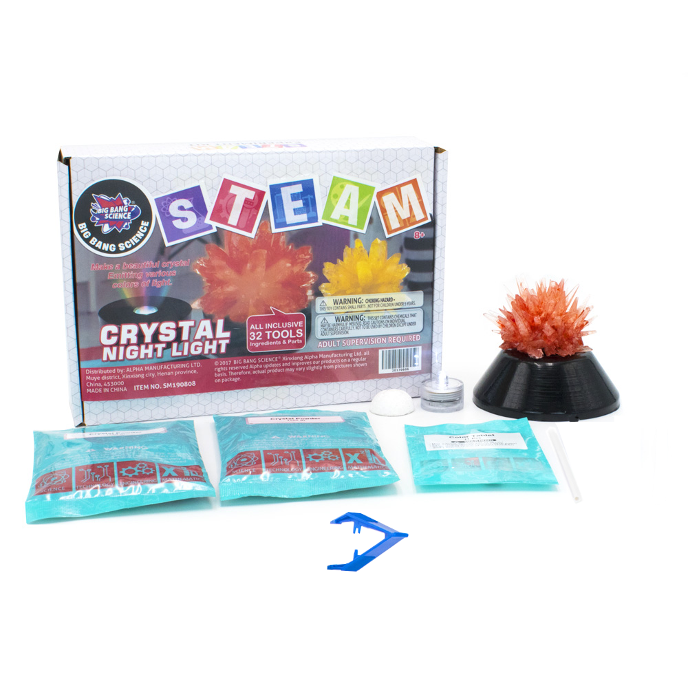 Kit de experimentos de ciencia-Light Up Stand-Kit de cultivo de cristal para niños