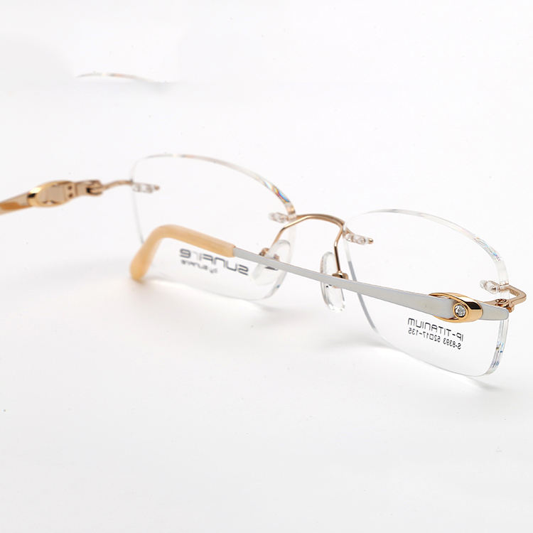 newest rimless frames diamond eyewear design