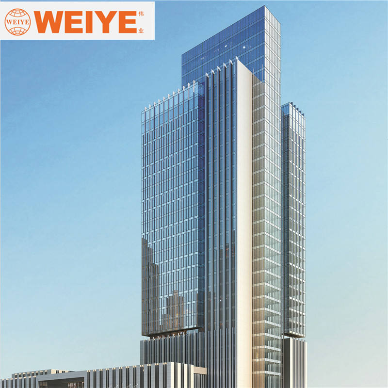 80-115Series Weiye brand Thermal Break Aluminum Alloy Glass Curtain Wall with invisible frame