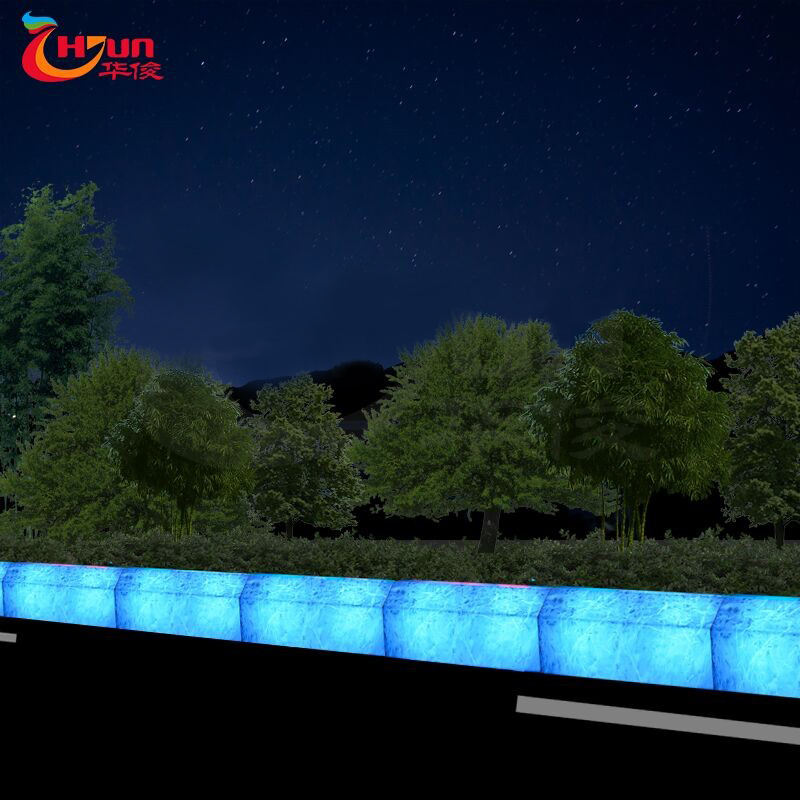 2020 New product Lighting Engineered Solar Led Illuminate Outdoor Curbstone