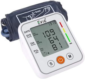 Evic Household Electric Digital Tensiometer Cuff Upper Arm BP Machine Sphygmomanometer Blood Pressure Monitor