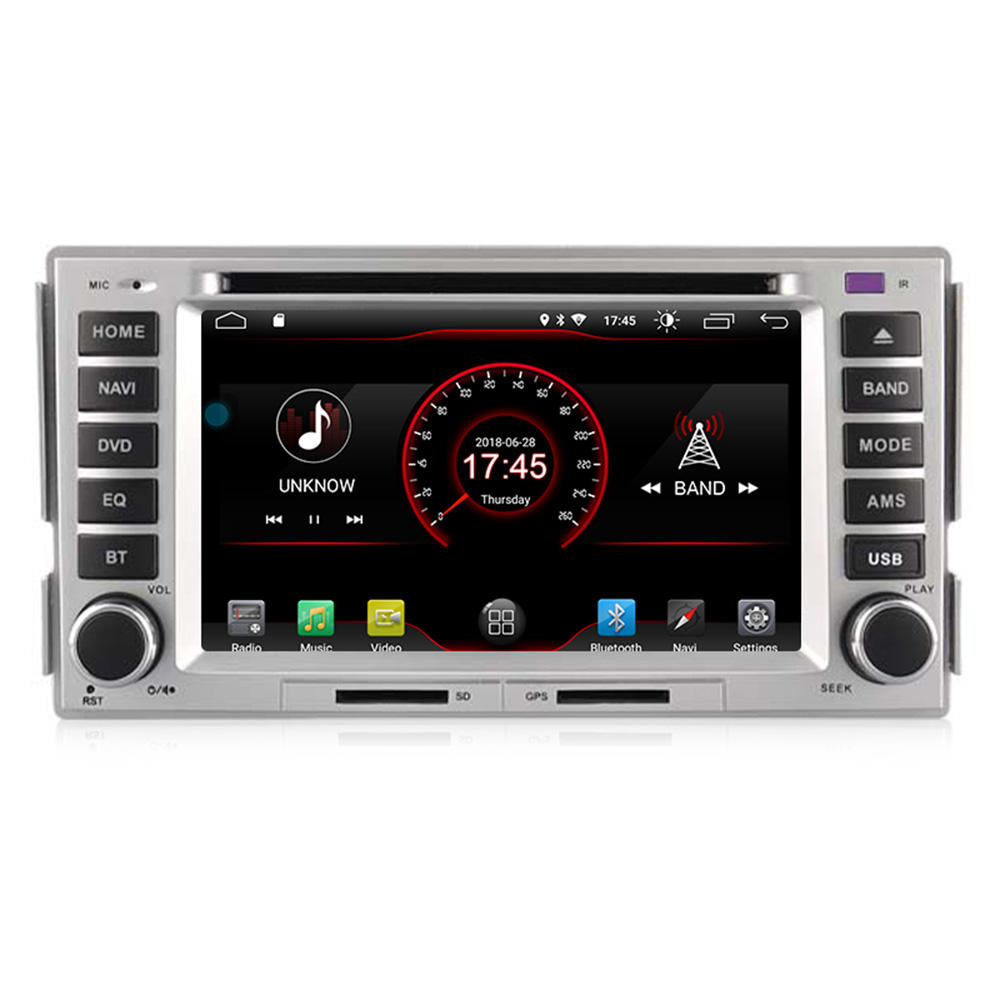 Mekede Android 9.0 2 + 16G Quad Core Car DVD Player untuk Hyundai Santa Fe 2008-2010 Radio stereo Audio Video WIFI GPS Bt RDS SWC