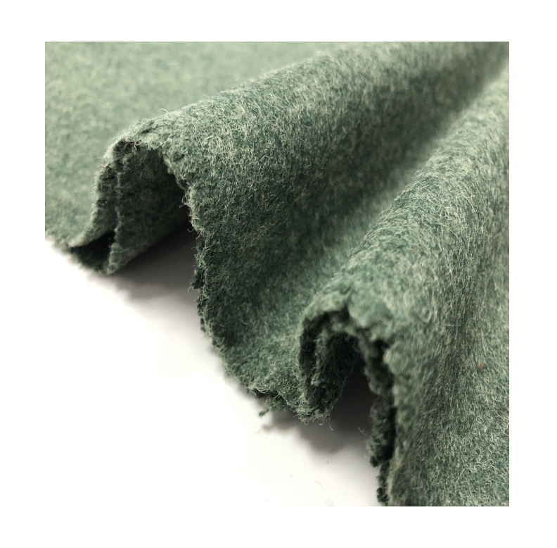 Melton Fabric Accept Custom Designs 50% Woolen Material Customized Color