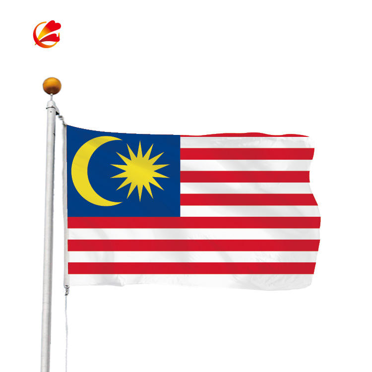 Customized national country flag banner Malaysia flag banner wholesale