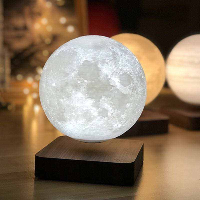 2021 amazon best seller Innovation Fashion magnetic floating moon lamp and floating magnetic levitating lamp moon