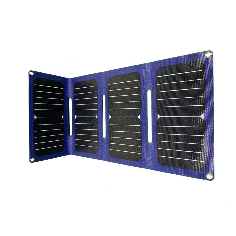Outdoor Portable Folding Solar Charger Solar Panel With Dual USB Output