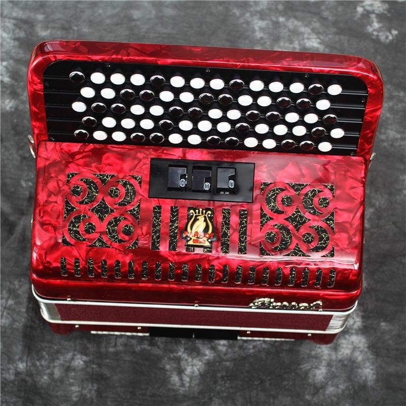 YW663 parrot brand 69 keys 96B button accordion, accordions