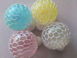 Glitter trauben mesh ball bunte gel squishy ball gummi squeeze ball