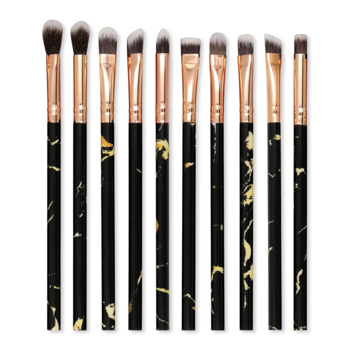 2020 new 10 pieces marble eye brushes eye shadow eyebrow beauty dressing tools make up free samples beauty products for Ladies