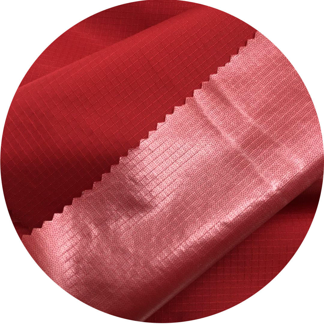 High quality nylon ripstop woven bonded TPU transparent film waterproof fabric For coats