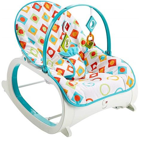 Infant-to-Toddler Rocker Geo Diamonds Indoor Baby Swing