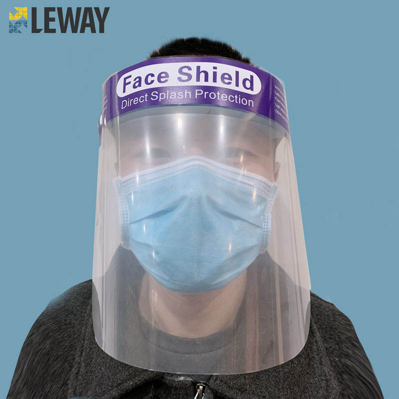Clear full ffp3 visors protective plastic with face shields