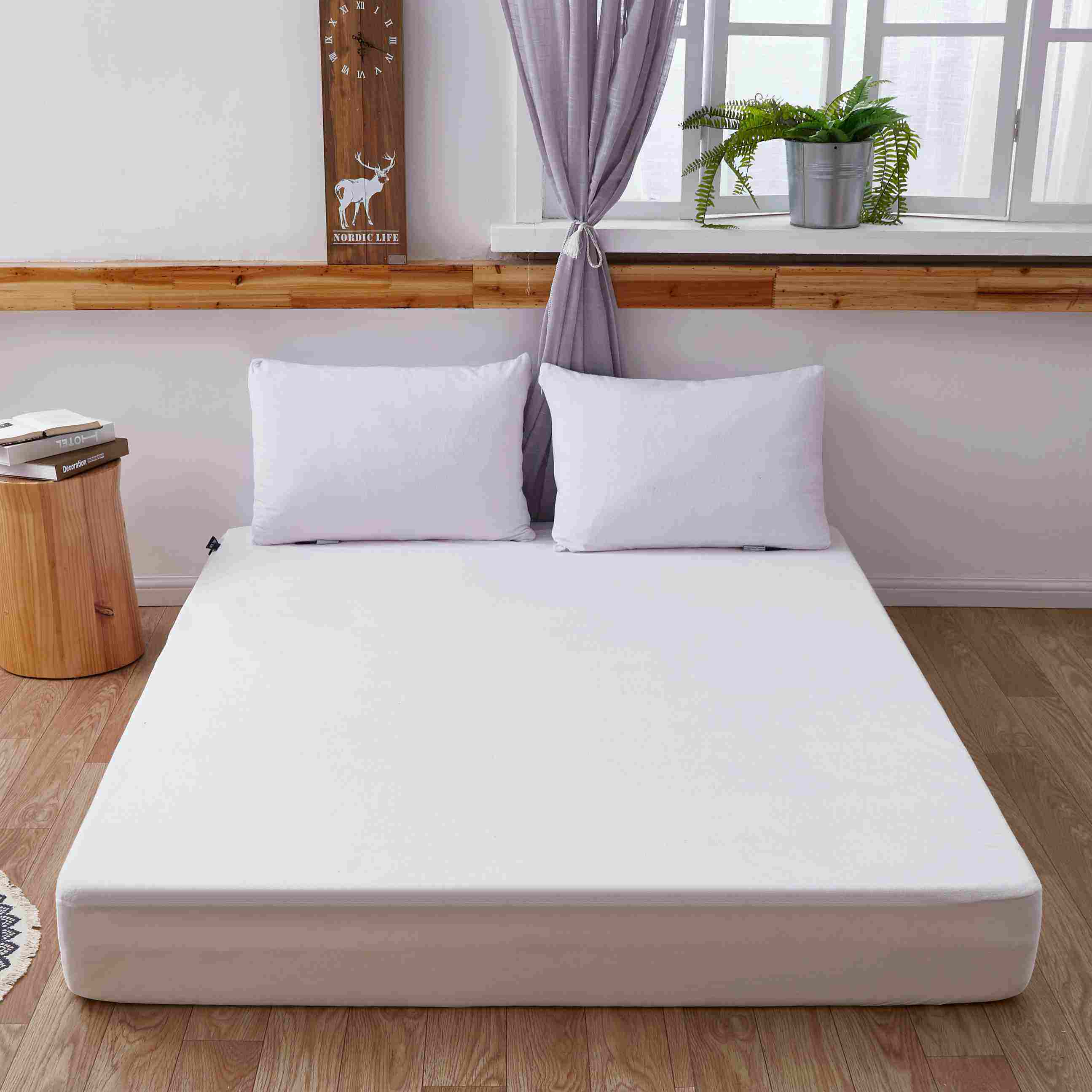 Factory Price Terry cloth Sheet Hotel Luxury Bed Sheets Extra Soft Easy Fit Breathable Wrinkle free