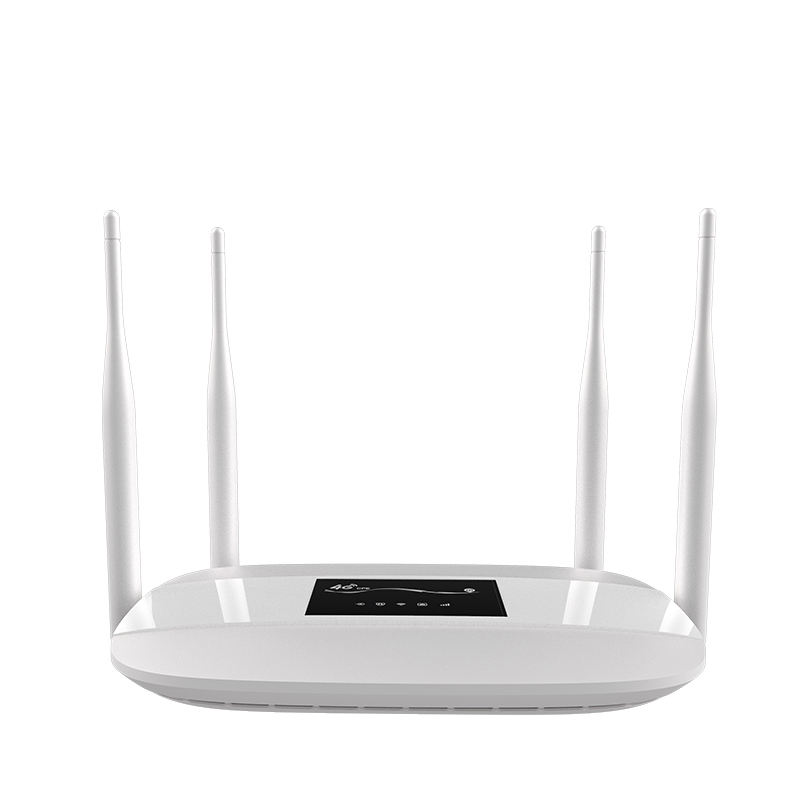 Indoor 4G LTE WiFi Router 300Mbps Wireless Broadand 4G 3G Wi-Fi Mobile Hotspots CPE with SIM Slot 4LAN Ports 32 User