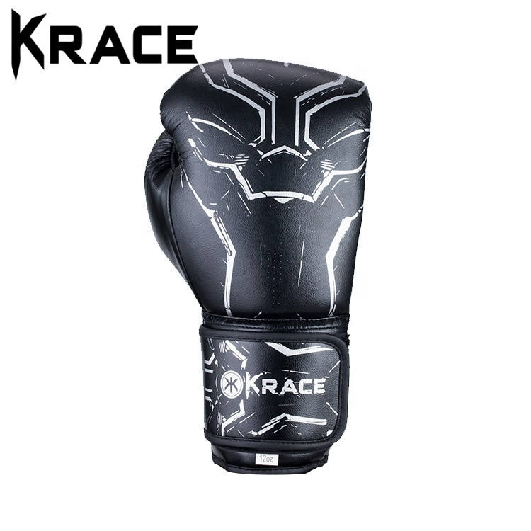 Krace 2020 Wholesale Professional Manufacturer Custom logo pakistan Leather Sports gel kick Power Training Boxing Gloves