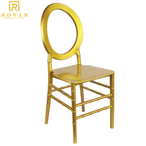2019 New design wholesale white resin plastic acrylic stackable chair used for event round back wedding sale ghost chair