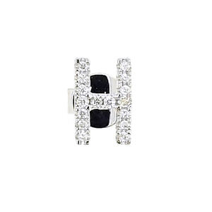 Fine Jewellery Natural Fashion Work 18K White Gold Rose Gold Yellow Gold Diamond Alphabet H Stud Earring