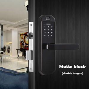 Indoor fingerprint lock Office bedroom door Smart door lock Semiconductor zinc alloy electronic code lock