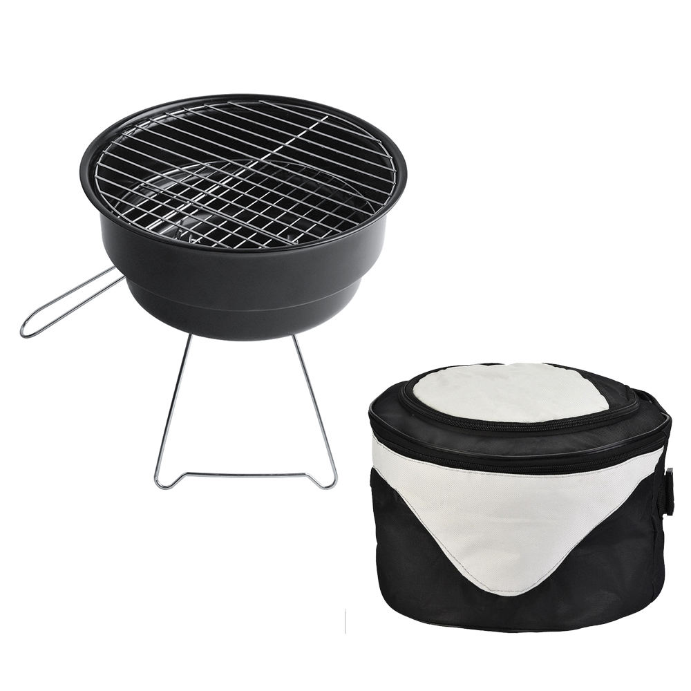 DA00-2 Ship From America Warehouse Barbacoa BBQ Stove With Ice Bag Cooler Portable Charcoal Mini Smoker Camping Barbecue Grills