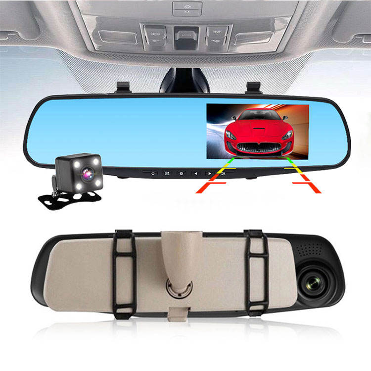 Best Video Mirror DVR Car Black Box Full HD 1080P Dual Lens Dashcam 4.3