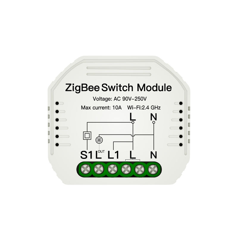 OEM Factory Wireless Tuya Zigbee 3.0 Switch Module IOT Automation Smart Home CE Approval 90-250V 10A Remote Control