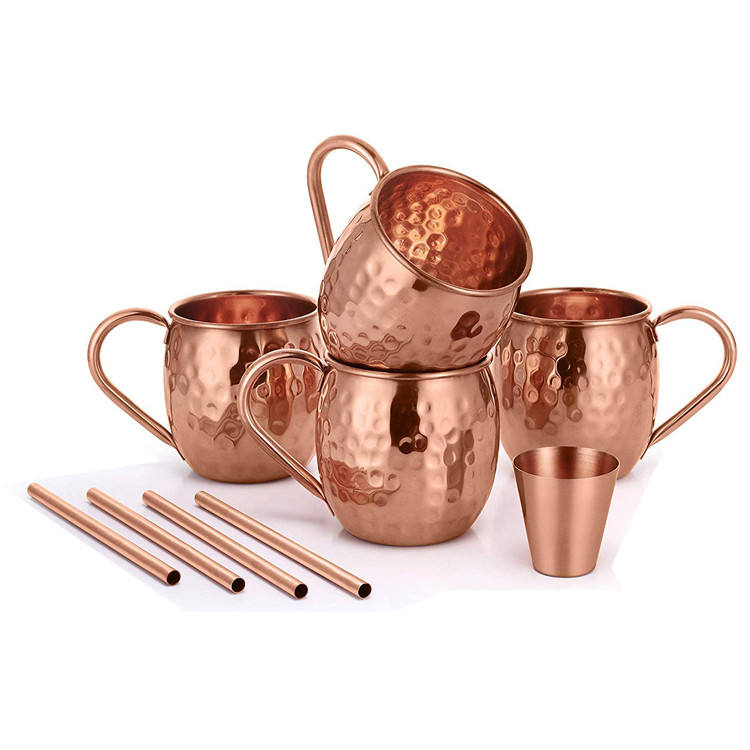 Manufacture wholesales customized logo copper moscow mule mug