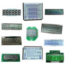 Factory cheap customized size TN HTN VA STN FSTN custom monochrome 7 segment lcd display for smart energy meter