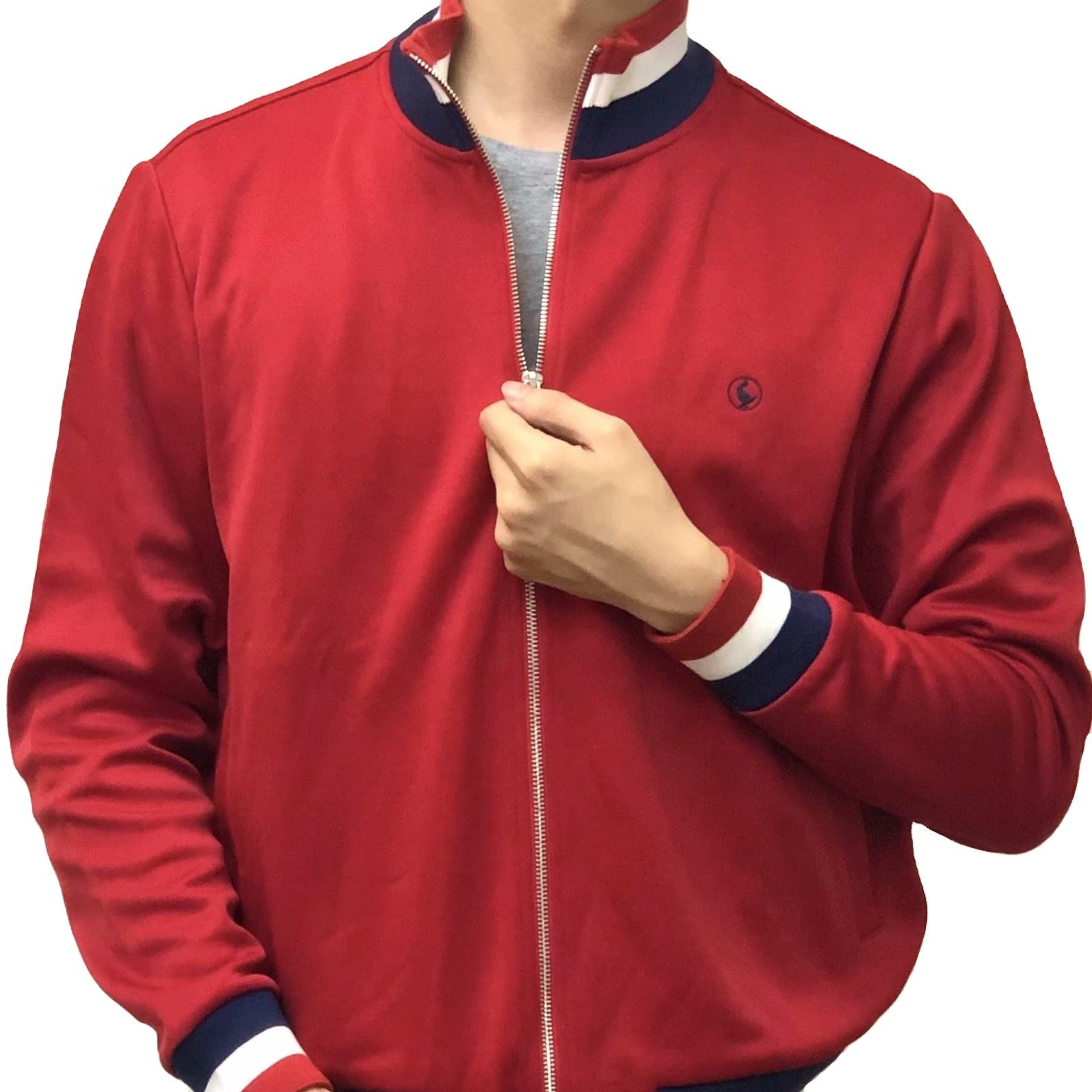 High Quality Men Jogging Spring Autume Fashion Waterproof Red Zipper Outwear Men's Plus Size Jackets