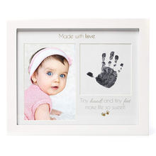 FSC Newborn Baby Handprint or Footprint Picture Frame Kit A Perfect Baby Shower Gift Nursery Memory Art Wall Desk