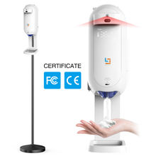 Automatic hand sanitizer 1100 ML liquid soap dispenser thermometer wall desk stand infrared thermal scanner
