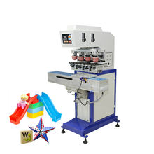 Toys sealed ink cup tampografia pad printing machine 4 color with shuttle
