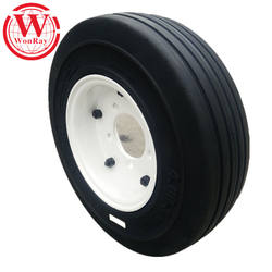 high quality aviation parts ground support equipments solid rubber tire 4.00-8 with rim