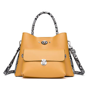 Nueva llegada de lujo bolsa de mano conjunto coreano personalizado se marca de piel pu bolso de cuero para las mujeres