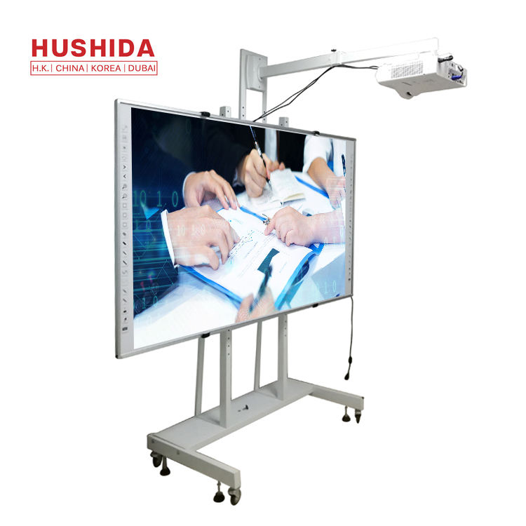 HUSHIDA 82 inch Smart whiteboard flat panel all in one whiteboard interactive projector