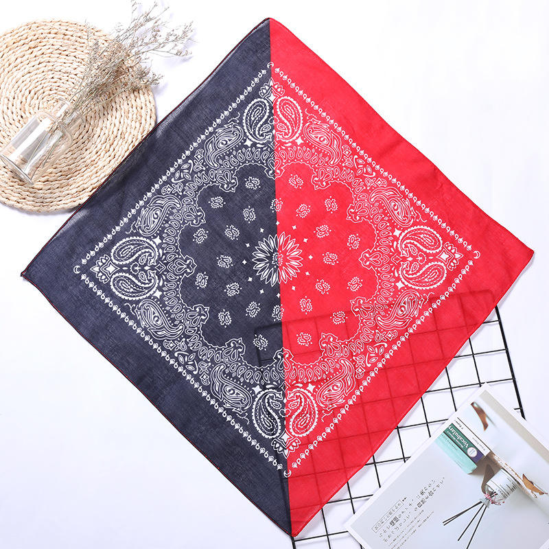 Fanni Factory Wholesale New Style Two Tone Paisley Bandana 100% Square Head Scarf