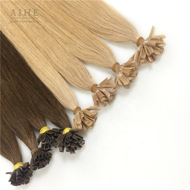 Best quality pre bonded keratin ombre double drawn remy human u tip hair