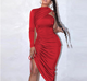Women Sexy TOB 1 Sleeve Women Club Dresses Summer Hot Sexy Midi Bodycon Night Club Dresses