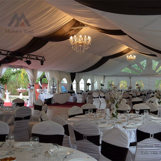 Luxury aluminum frame wedding marquee tent, outdoor white party tent