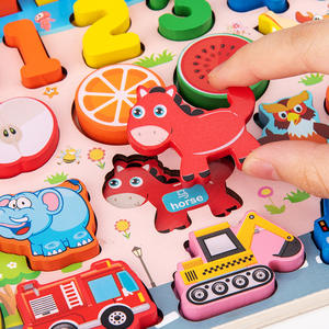 2020 new design Multicolor 7 In 1 animal and figure early educational toys Customized creative learning Montessori toys
