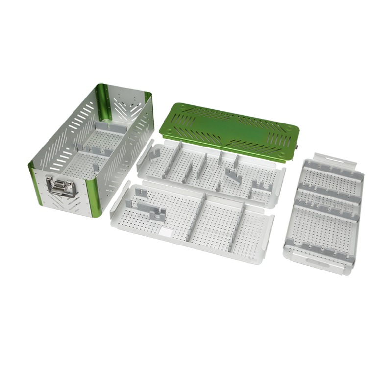 High quality fast shipping stainless steel surgical instrument sterilization containers trays box