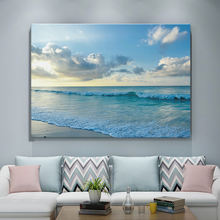 High quality home goods modern natural scenery painting landscape wall art Seascape canvas print for living room