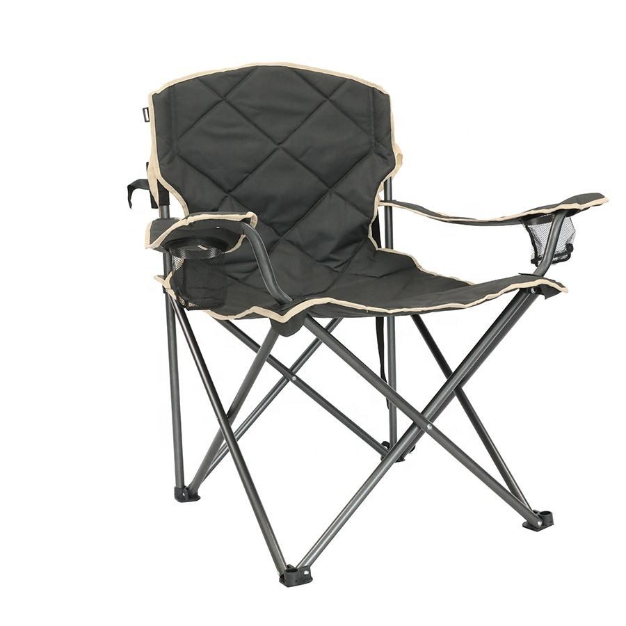 Customized Luxury Portable Metal Picnic Giant Folding Big Tall Metal Chair For Camping Outdoor Fishing