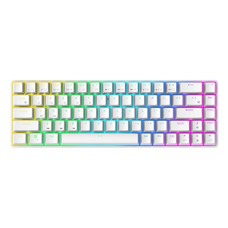 PD002c 2019 big characters multi-color keycaps mechanical keyboard New mechanic keyboard with big keys t801