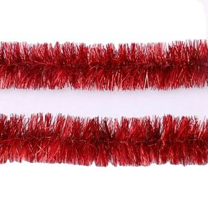 Christmas Decorations Gifts PET Tinsel Garland Red Color