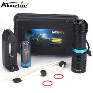 Alonefire DV30 XM-L2 LED Bright light Diving flashlight 100M Underwater Waterproof Dive torch Scuba Lantern lamp 26650 Battery